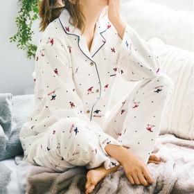 50%OFF【レディース】 コットン100% シャツパジャマ - セシール ■カラー:スノボー柄 ■サイズ:LL,3L