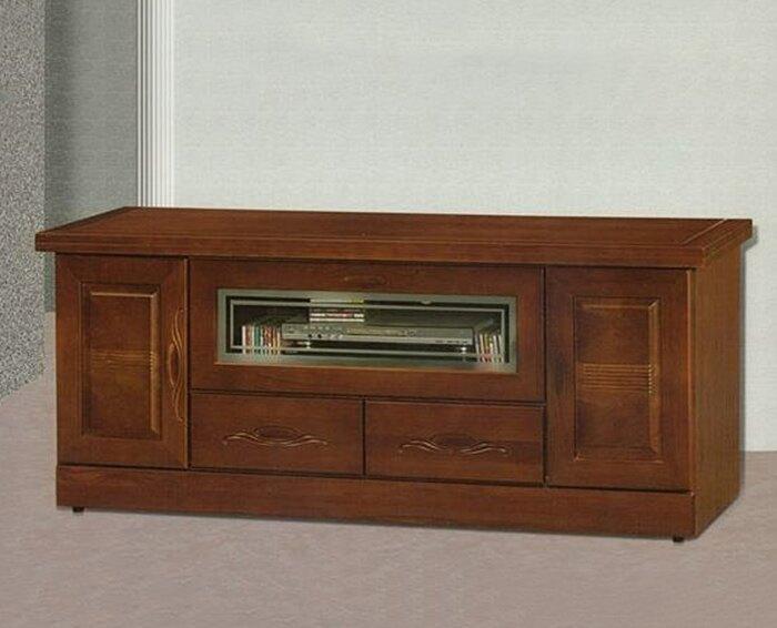 【尚品家具】868-04 胡桃色樟木半實木5尺電視櫃(另有7、6、4尺)