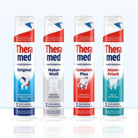 德國 Theramed 站立式牙膏 100ml 牙膏 口腔清潔 按壓直立式牙膏 直立式牙膏 按壓式牙膏【N600818】