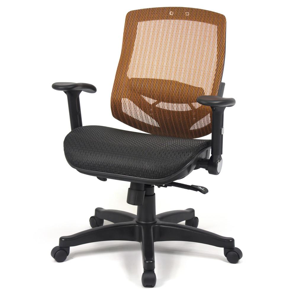 aaronation愛倫國度 - 舒適全透氣電腦網椅(908a-橘)