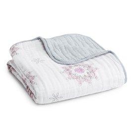 美國 Aden + Anais Dream Blankets 四層厚毯(粉色紋章6029)★英國喬治小王子御用包巾品牌【紫貝殼】