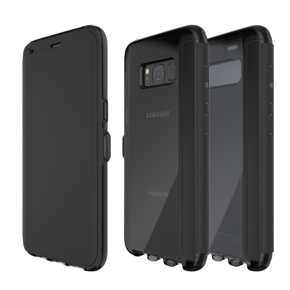 Tech21 英國超衝擊 Evo Wallet Samsung S8+ 防撞軟質保護皮套