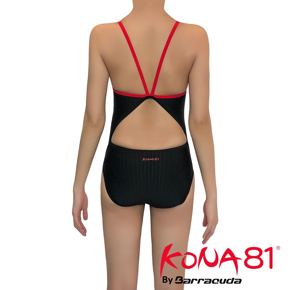 酷吶81 KONA81-細肩帶挖背抗UV連身泳裝