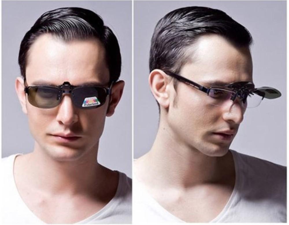 夾式偏光鏡片可調高低鏡片 近視眼鏡變墨鏡 可拆式鏡片 太陽眼鏡 偏光鏡片 夜視鏡片 防風