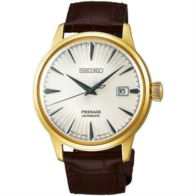 Seiko 精工錶 Presage 4R35-01T0G(SRPB44J1) 紳士經典機械腕錶/白面 皮帶 41mm