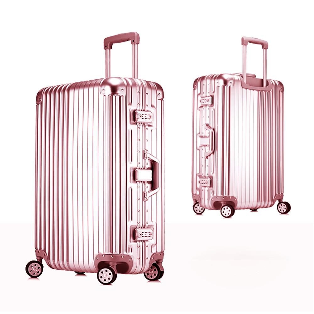 時尚經典26吋鋁框pc鏡面行李箱 [贈十字行李帶+防水化妝包]