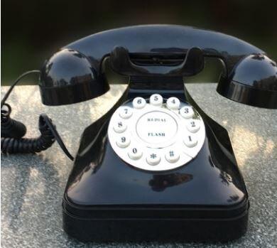 美琪 老式仿古電話機歐式復古辦公家用電話座機擺件裝飾電