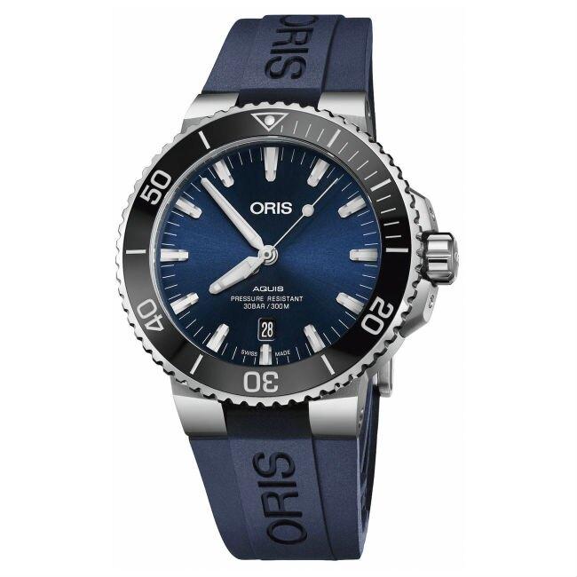 ORIS 豪利時 Oris Aquis 時間之海 0173377304135-0742465EB 潛水機械腕錶/藍 43.5mm