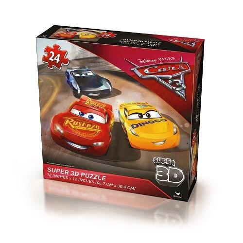 【美國Disney迪士尼】汽車總動員 Cars3 3D拼圖 CD68707
