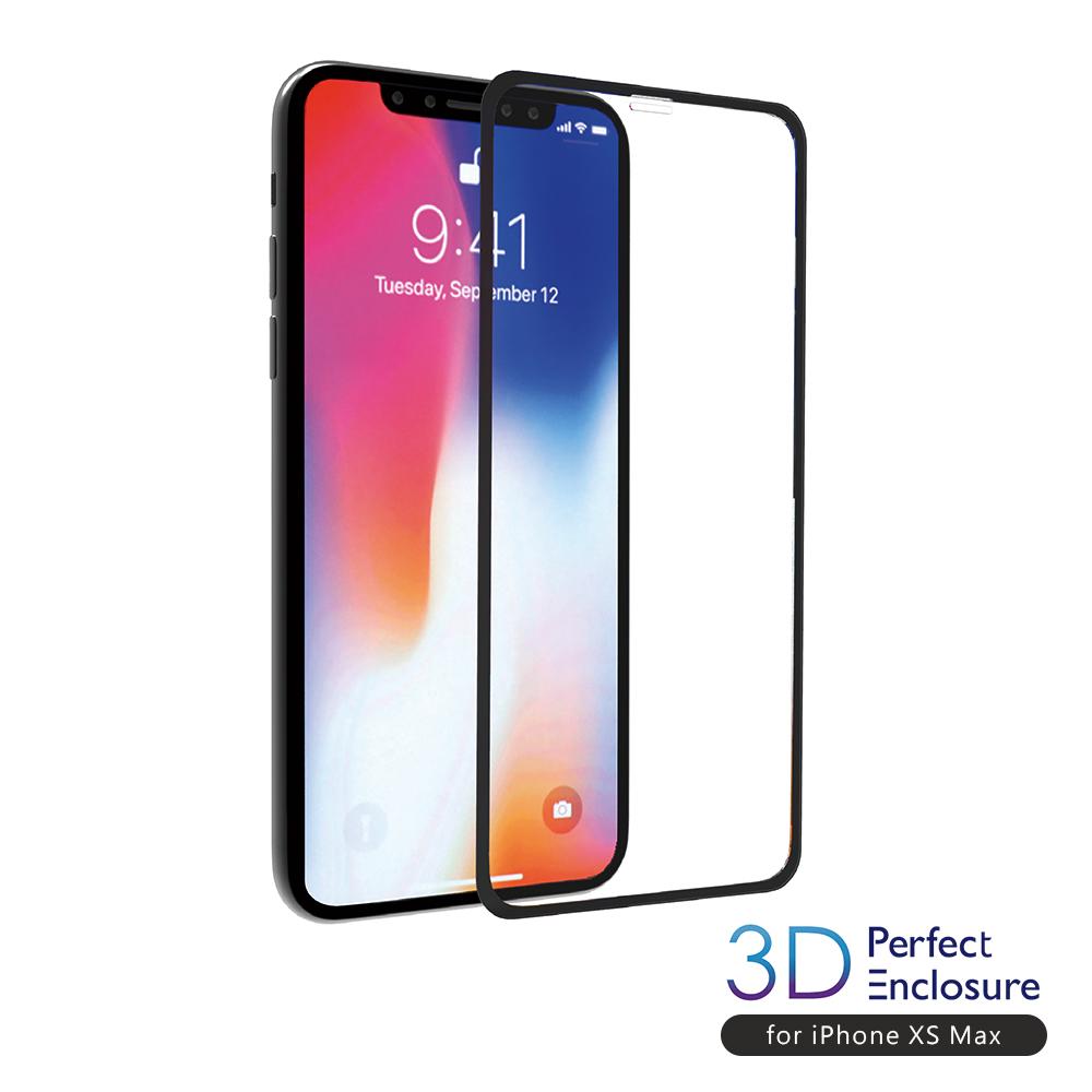 ABSOLUTE 3D PERFECT ENCLOSURE iPhone 11 Pro Max/XS Max(6.5吋) 日本旭哨子2x強化耐衝擊9H玻璃螢幕保護膜
