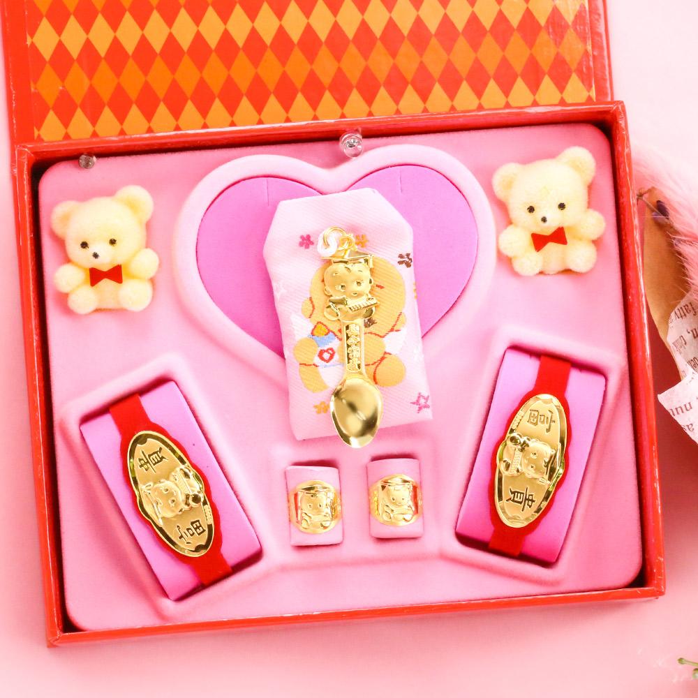 博士金湯匙-彌月金飾音樂禮盒(0.30錢)