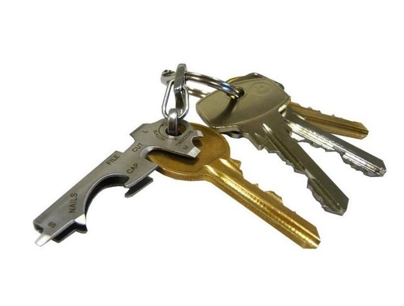 8合1鑰匙扣  多功能鑰匙夾組合小工具 戶外 不銹鋼edc開瓶器