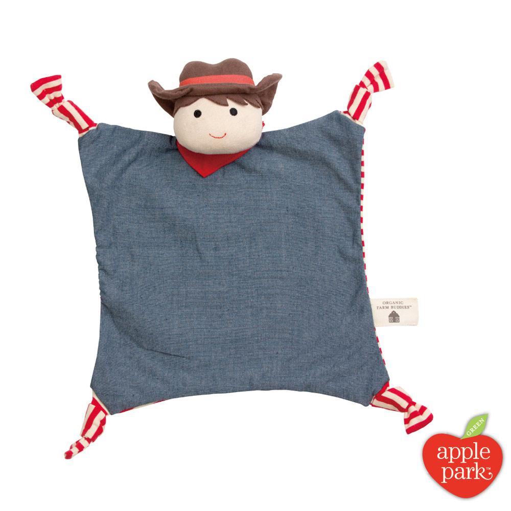 美國 Apple Park 農場好朋友系列有機棉安撫巾 - 農場男孩