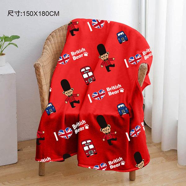 英國熊 150x180cm法蘭絨毯 065ta-f290b