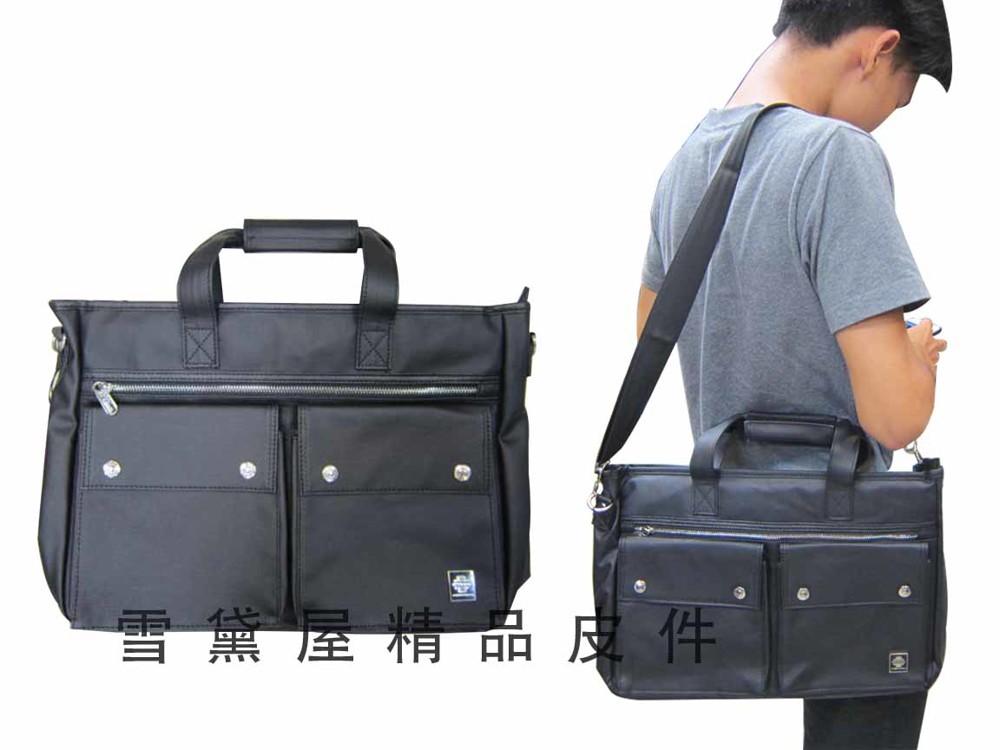 文件包中小型容量公事包進口防水防刮皮革材質可手提肩背斜側背可放a4資料夾電腦
