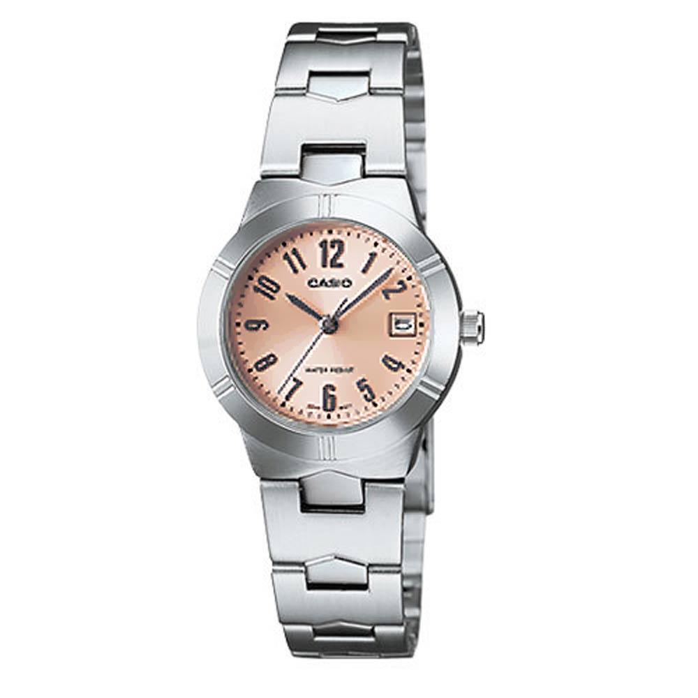 【CASIO卡西歐】都會氣質腕錶-珊瑚 (LTP-1241D-4A3)