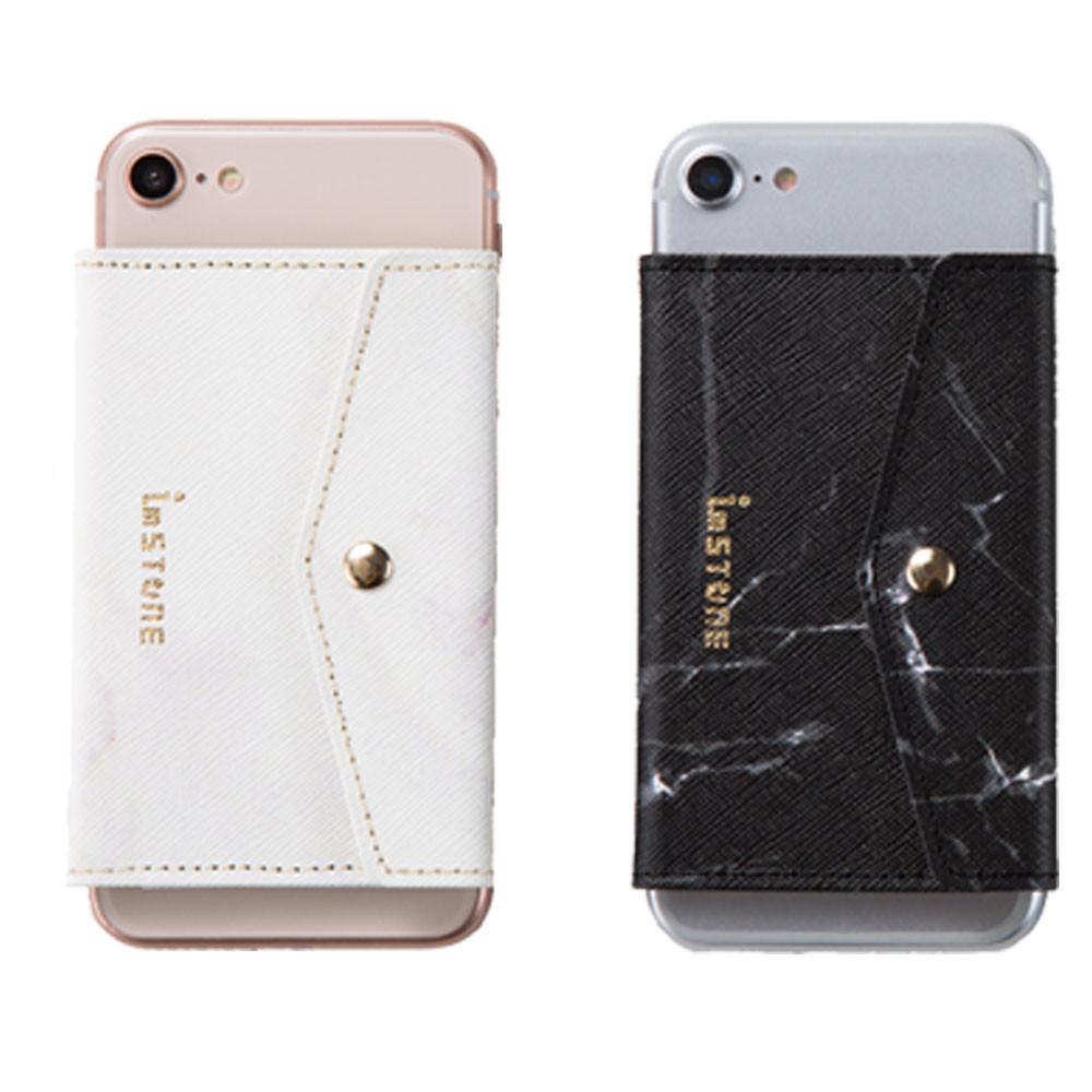 [imstone石革皮件] 手機防盜石革卡套-金屬釦