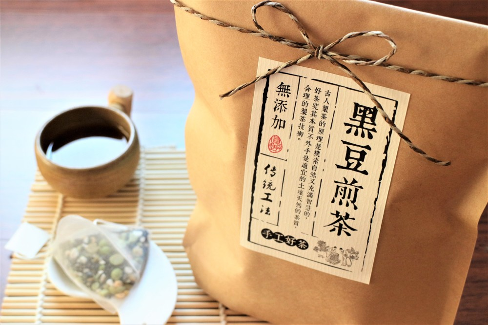 黑豆煎茶特選台灣青仁黑豆融合天然穀物自然農法手沖茶包