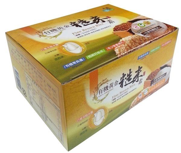 禾農 有機黃金糙米素(無糖) 10克x33包/盒(另有買2送1)