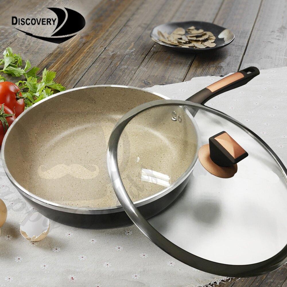 【Discovery發現者】韓式喜悅 不沾鍋 深煎鍋/平底鍋+鍋蓋(30cm) GPL-3000DFP