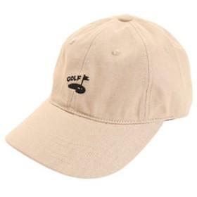 【Super Sports XEBIO & mall店:帽子】リネン刺繍キャップ GREEN 897PA9ST1743 BEG