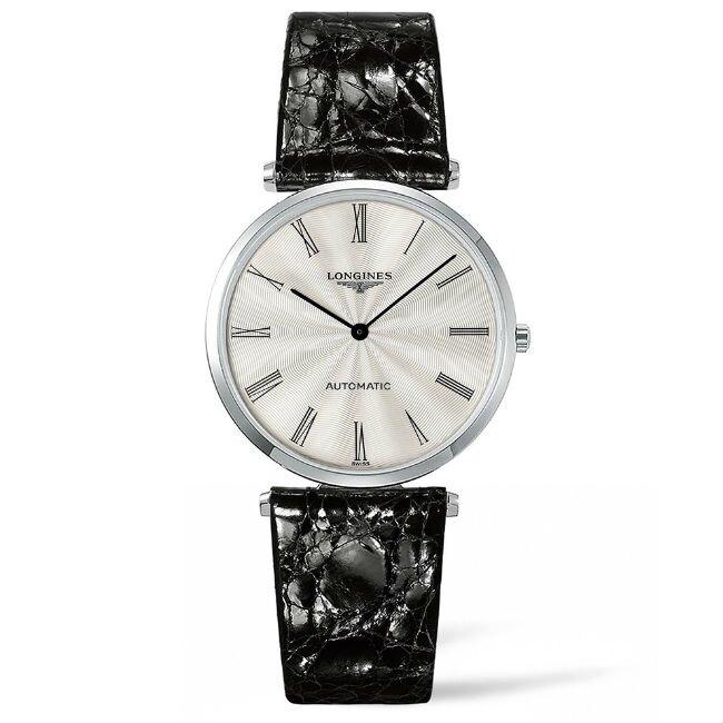 LONGINES 浪琴錶 L49084712嘉嵐超薄機械優雅腕錶/白面36mm