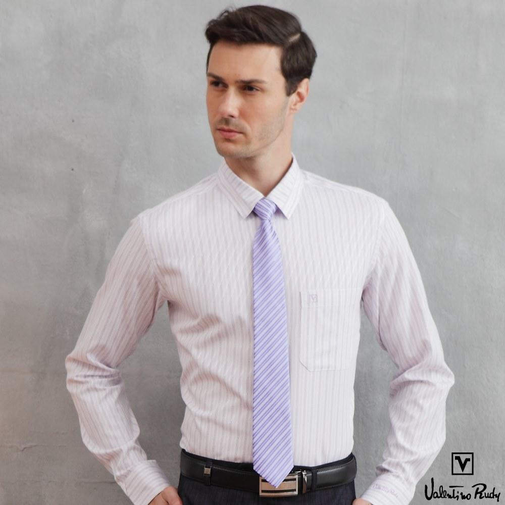 Valentino Rudy范倫鐵諾.路迪長袖襯衫-紫-斜紋