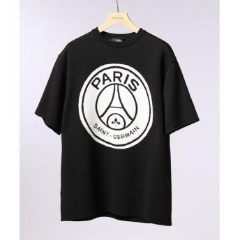 EDIFICE Paris Saint-Germain TOKYO / パリサンジェルマン LOGO CREW KNIT S/S ブラック S