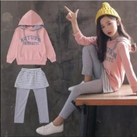 キッズ ジャージ 上下セット 子供服 スウェット セットアップ 女の子 パーカー レギンス付き スカート スポーツウェア ジュニ