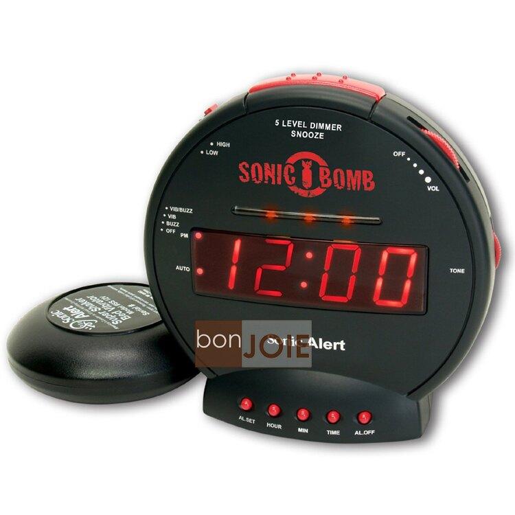 ::bonJOIE:: 美國進口 Sonic Alert SBB500SS 震動鬧鐘 (含振動器)(全新盒裝) Bomb Boom 音波炸彈 鬧鈴 靜音 提醒器