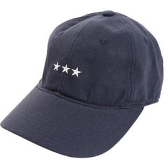 【Super Sports XEBIO & mall店:帽子】リネン刺繍キャップ 3Star 897PA9ST1741 NVY