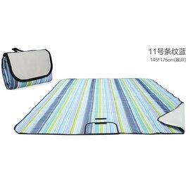 WallFree窩自在 防水耐磨戶外郊遊野餐墊/遊戲毯(大尺寸150*180CM)-藍條紋