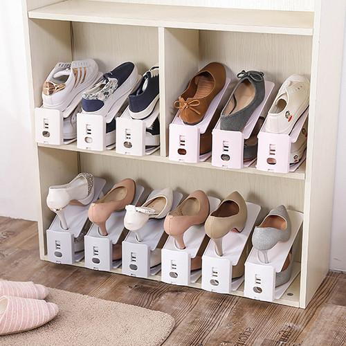 北歐可調式雙層收納鞋架