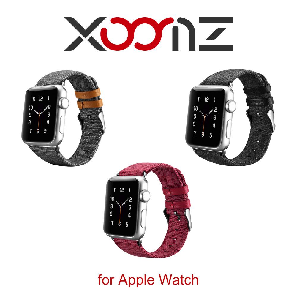 XOOMZ 布藝系列 Apple Watch 手工撞色錶帶