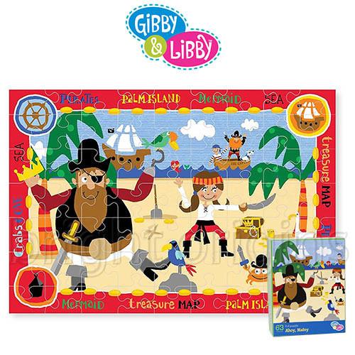 gibby&libby 63片拼圖 海盗寶藏