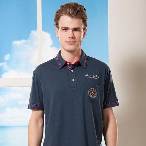 夏季 單品最讓人注目 你絕對不想錯過POLO男裝上衣款{ 藍色 M.L.XL }【86733-70】*86精品女人國*