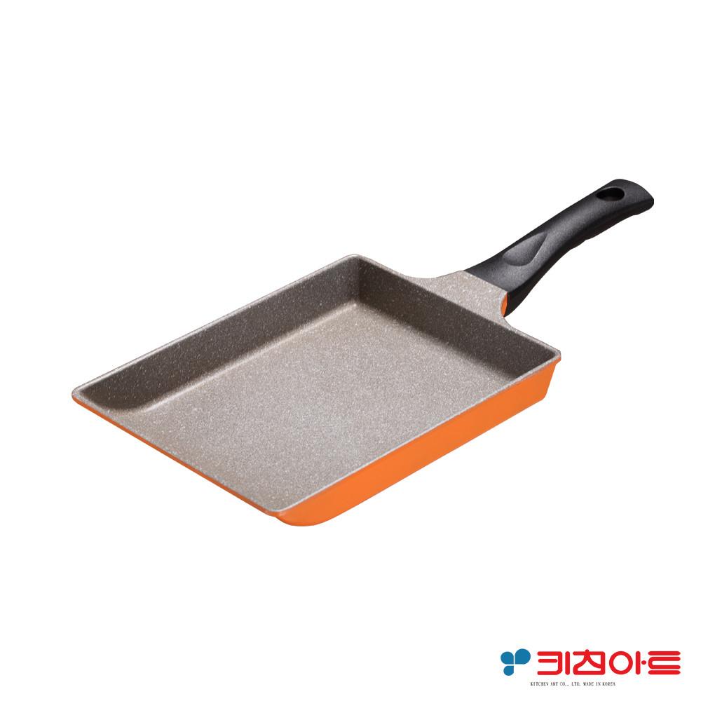 kitchen art亮麗橘鈦晶石玉子燒鍋-24cm