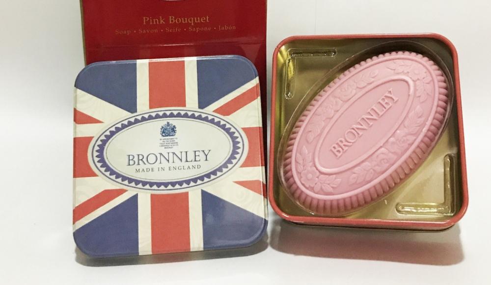 英國皇室御用 Bronnley 身體香皂 ( Pink Bouquet 粉紅花束/玫瑰) 精緻鐵盒包裝