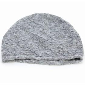 ニットワッチ 春夏 婦人 サマーニット ニット帽 室内着用可能 国産 ニット 綿 麻 スラブ 室内で使える 上品 レディース グレー