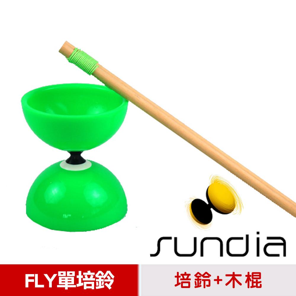 三鈴sundia台灣製造fly長軸培鈴扯鈴(附木棍扯鈴專用繩)綠色