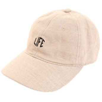 【Super Sports XEBIO & mall店:帽子】リネン刺繍キャップ LIFE 897PA9ST1707 BEG
