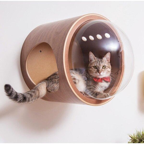 Myzoo 太空計畫-GAMMA 胡桃木 貓屋 貓籠 貓咪窩 寵物用品 動物緣【BK1265】Loxin