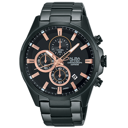 ALBA VD57-X081SD(AM3341X1) 時尚三眼計時腕錶/43mm