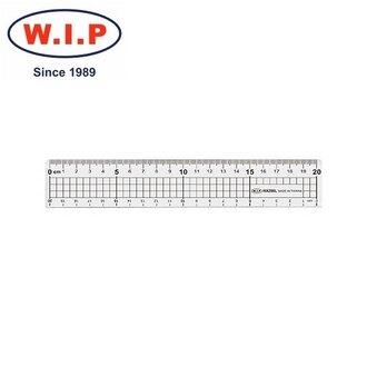【W.I.P】20cm鐵邊切割尺  HA200L 台灣製 /支