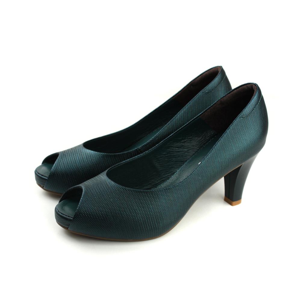 HUMAN PEACE 魚口 高跟鞋 深綠色 女鞋 94519 no265