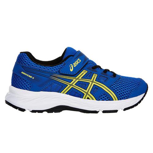 Asics CONTEND 5 PS [1014A048-401] 中童鞋 運動 慢跑 彈性 緩震 保護 藍黃 亞瑟士
