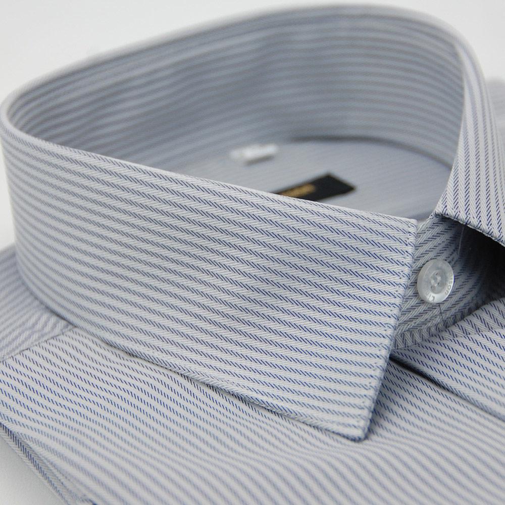 【金安德森】灰色窄版類絲質吸排長袖襯衫
