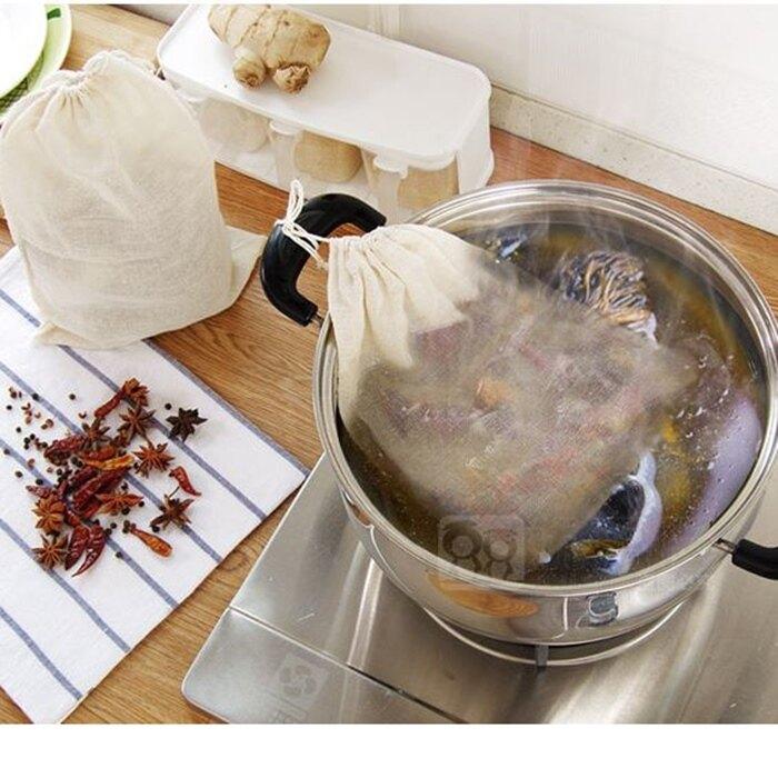 [Hare.D] 抽繩滷包袋23*21公分 中藥濾渣袋 廚房用品 煲湯袋 鹵料香包