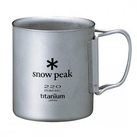 ├登山樂┤日本Snow Peak 雙層斷熱鈦合金折疊把手 隨身杯 220ml # MG-051FHR