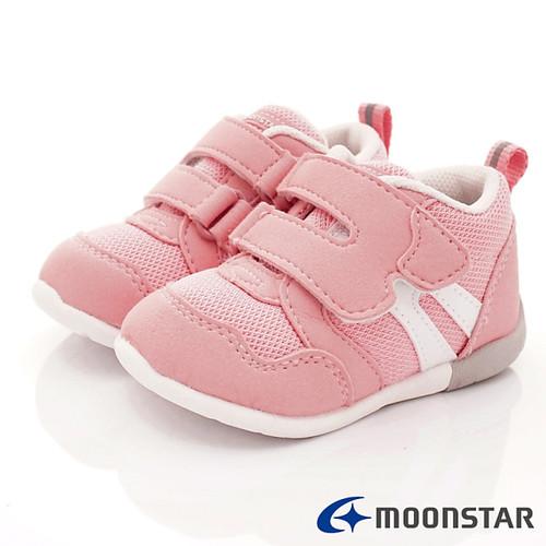 日本Carrot機能童鞋-HI系列寶寶穩定款MSB1114粉-(12.5cm-15cm)
